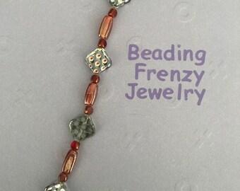 Hand Strung Glass Beaded Bracelet
