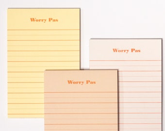 Worry Pas Notepad - Gratitude Notepad Inspired by Maritime and East Coast Canada Lifestyle
