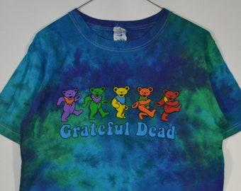 Vintage Grateful Dead Rainbow Teddy Bears tie dye shirt Small