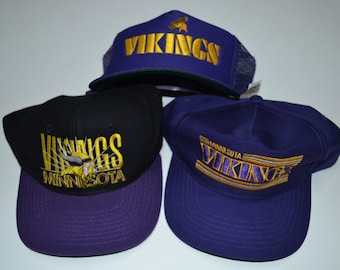 03a6445127364b Lot of VTG Minnesota Vikings NFL Snapback Hats Cap Hat Vintage Football 80s  90s Streetwear Fashion Hip Hop Sports Specialties New Era Pro