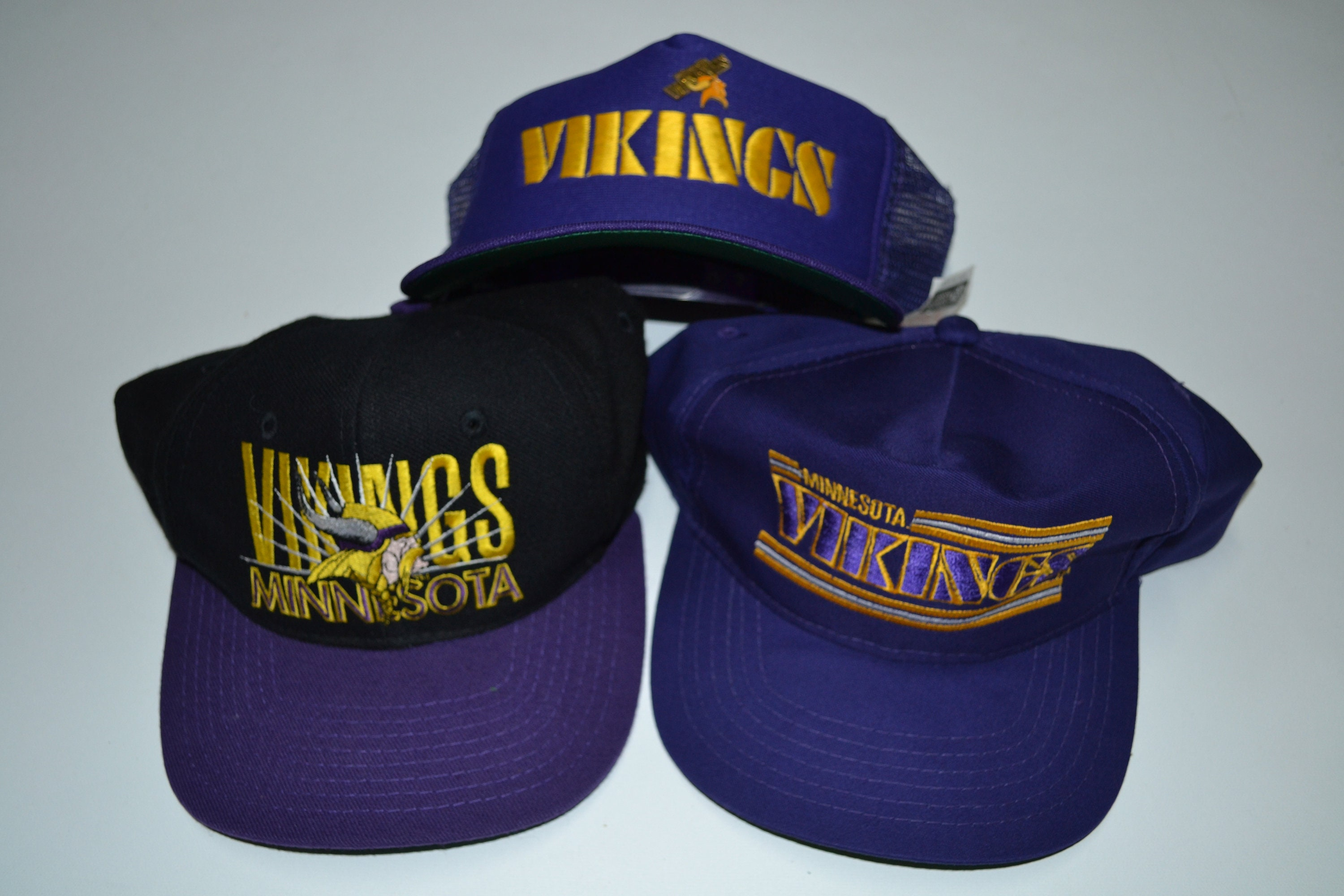 Lot of VTG Minnesota Vikings NFL Snapback Hats Cap Hat Vintage  595f64c12