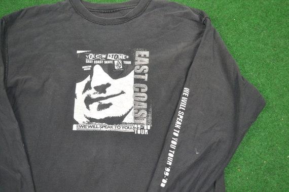 Vintage Rare 1999 Volcom East Skate Tour Tee Shirt