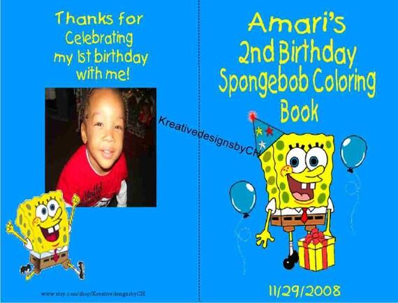 - DIGITAL COPY Spongebob Coloring Book Etsy