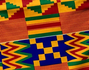 490263e6958 Custom-Tailored Scrub Top, KENTE African Print Cotton in 3 Colors