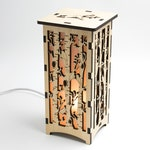 Tall Birch Tree Lantern, Valentine's Day Gift, Lovebirds, Bird Lamp, Laser Cut Birch Tree, Wood Tree Nightlight, Cute Tree Art