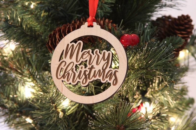 Merry Christmas Ornament Modern Ornament Christmas Sayings image 0
