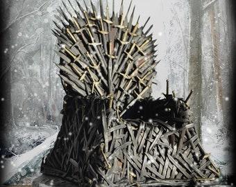 Pleasing Iron Throne Etsy Creativecarmelina Interior Chair Design Creativecarmelinacom