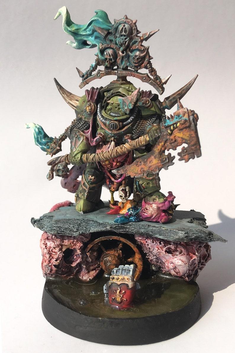 lord of contagion nurgle death guard warhammer 40000 wh40k wh warhammer40k  war hammer painting fan art gw