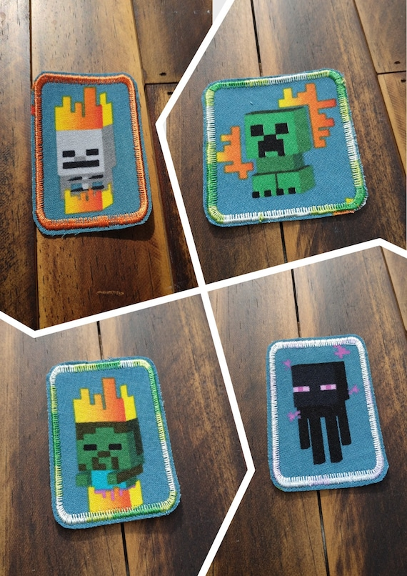 Video Cartoon Text Embroidered Iron On Applique Patch Game