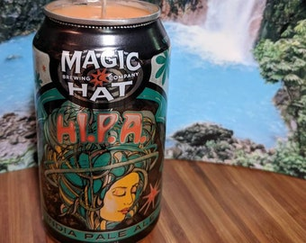 Magic Hat Brewery HI.P.A Beer Can Candle | Passionfruit Guava Scented
