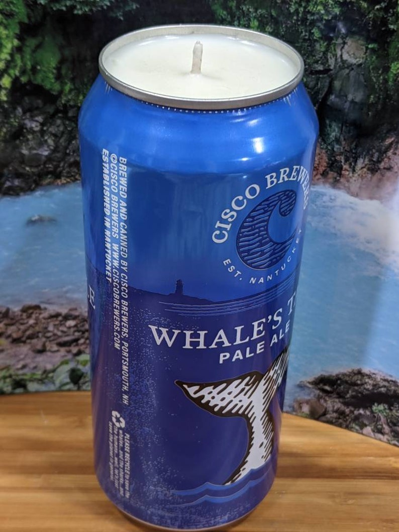 Cisco Brewers/' Nantucket Whale Tale Pale Ale 16oz Choice of Scent Beer Can Candle