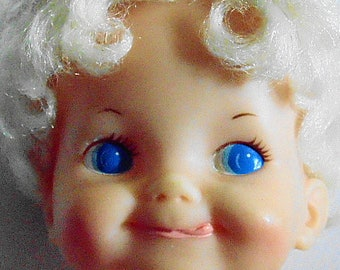 Ideal belly button baby doll 7 inches tall 1970
