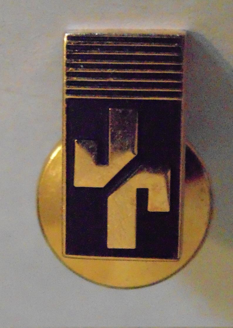 tack or lapel pin 14k gold JJ tie pin