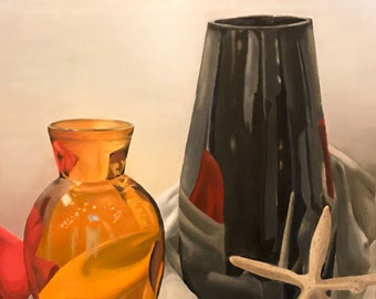 Vase Still Life- Oil Painting on Canvas