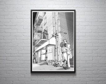 River Street Sweetie Digital Illustration
