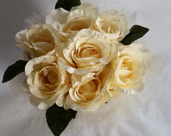 Yellow Glam Flower Bouquet (Above Angle)