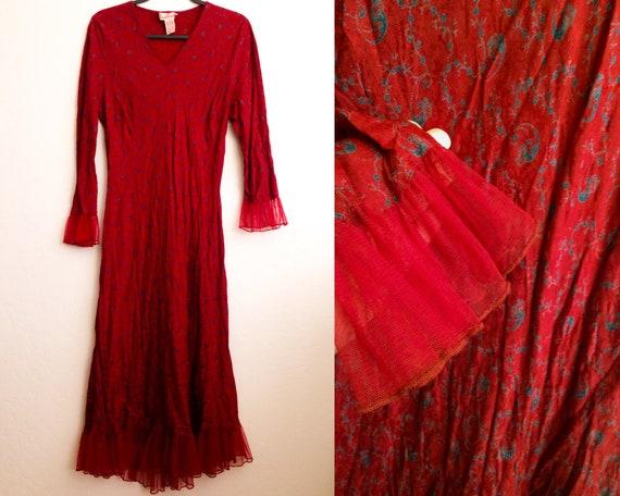 April Cornell Red Dress