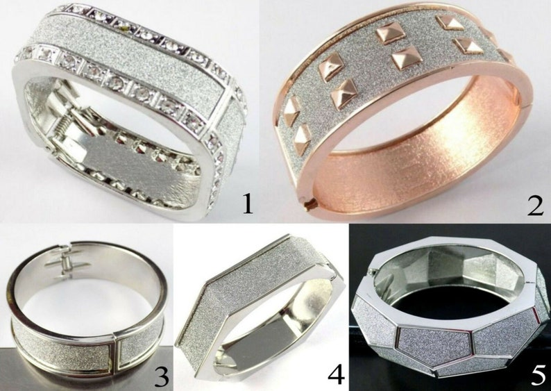 1 Pc Rose Gold /& Silver plated Sparkling Stainless Steel Women Cuff Bracelet Party Wear And Casual Friendship Bangle Or Bracelet For Women