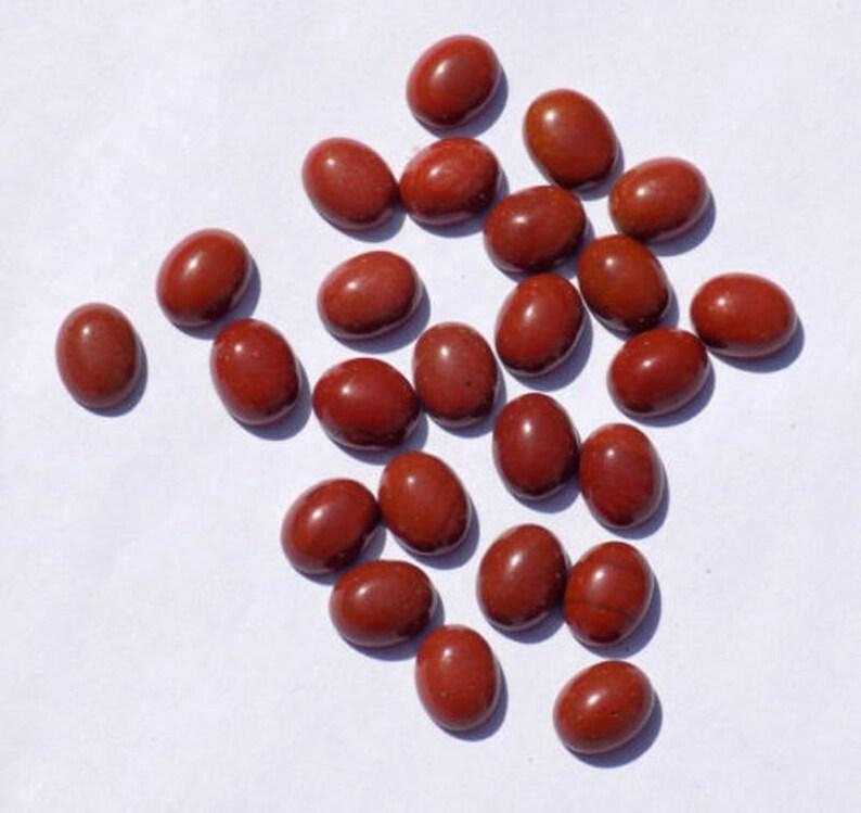 Red Jasper Cabs Wholesale Lot Red Jasper Cab Loose Gemstone Cabochon Oval Shape Smooth Jewelry Making Handmade Gemstone Jasper Oval Cabs
