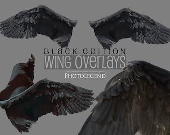 PNG Overlays BLACK WINGS