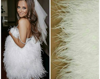 4f7902feec11 White Feather - Ostrich feathers - Feather trim - Craft feathers - Color  feathers - Black feathers - Dress feather - Ostrich trim Active