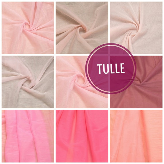 Bulk Tulle Mesh Wholesale Tulle Bolt Peach Net Soft Tulle Fabric #68-3m Wide Luxury CORAL PINK Tulle Roll Peach Lingerie Sheer Fabric