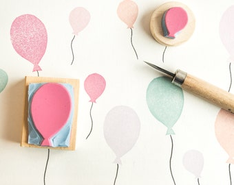 set rubber balloon stamps