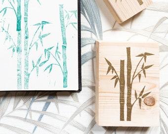 Timbro bamboo in gomma e legno
