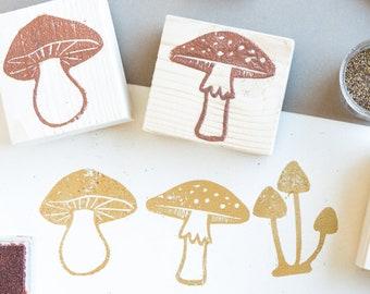 set rubber mushroom stamps