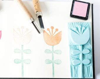 two-tone flower rubber set