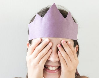 colorful crown in children's fabric