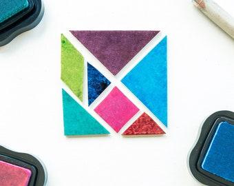 tangram rubber stamp set