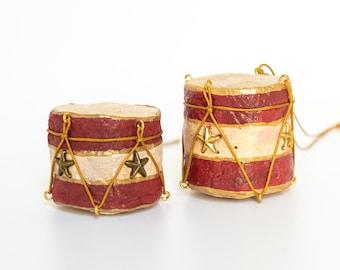 Decorazione natalizia tamburo di cotone filato in stile vintage