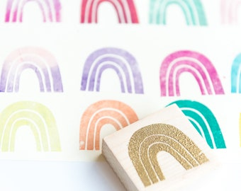 rainbow rubber stamp