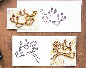 set stamps branch of magnolia