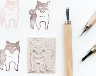 Japanese akita dog rubber stamp
