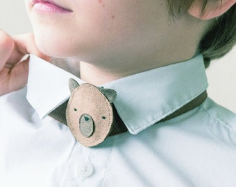 children's bow tie in the shape of an animal