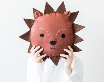 children's pillow in the shape of a lion, for nursery and bedrooms
