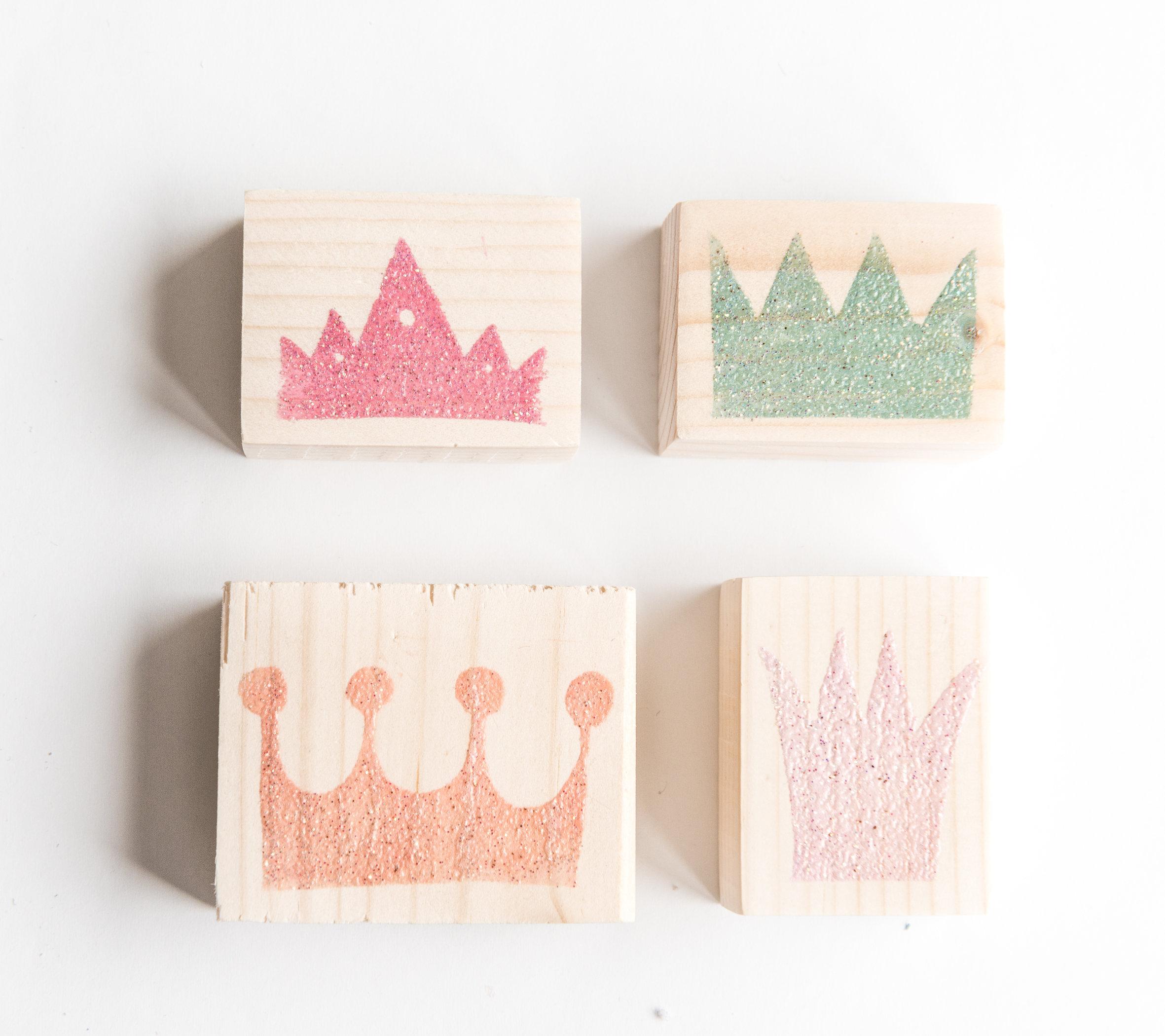 Timbri Personalizzati Per Stoffa set timbri in gomma corone