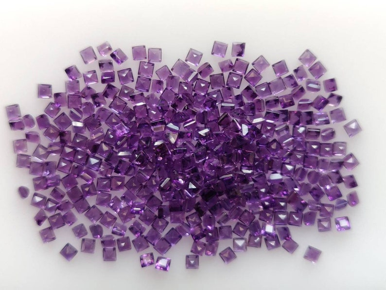 African Amethyst Beautiful Purple color Square shape Good Quality in Best Price