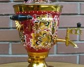 Vintage Russian Electric Samovar Hand Painted 1986