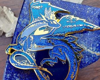 Lapis Lazuli Dragon Enamel Pin