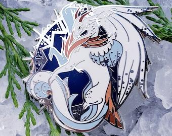 Winter Dragon Enamel Pin