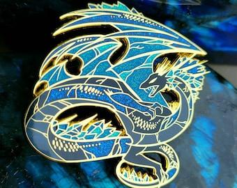 Labradorite Dragon Enamel Pin