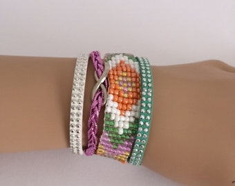 Handmade bracelet cuff as a mother to child