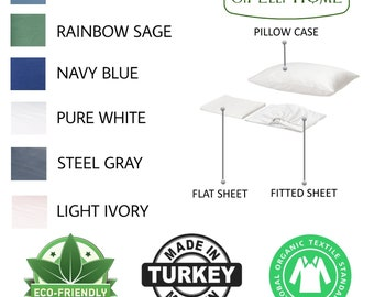 Organic cotton bed sheets Twin size 4 pieces bed sheet sets