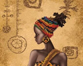 Nova Sloboda Bead embroidery kit Mysterious African woman HD2079