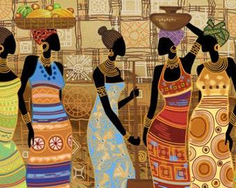 Nova Sloboda African Beauties bead embroidery kit DK 1038