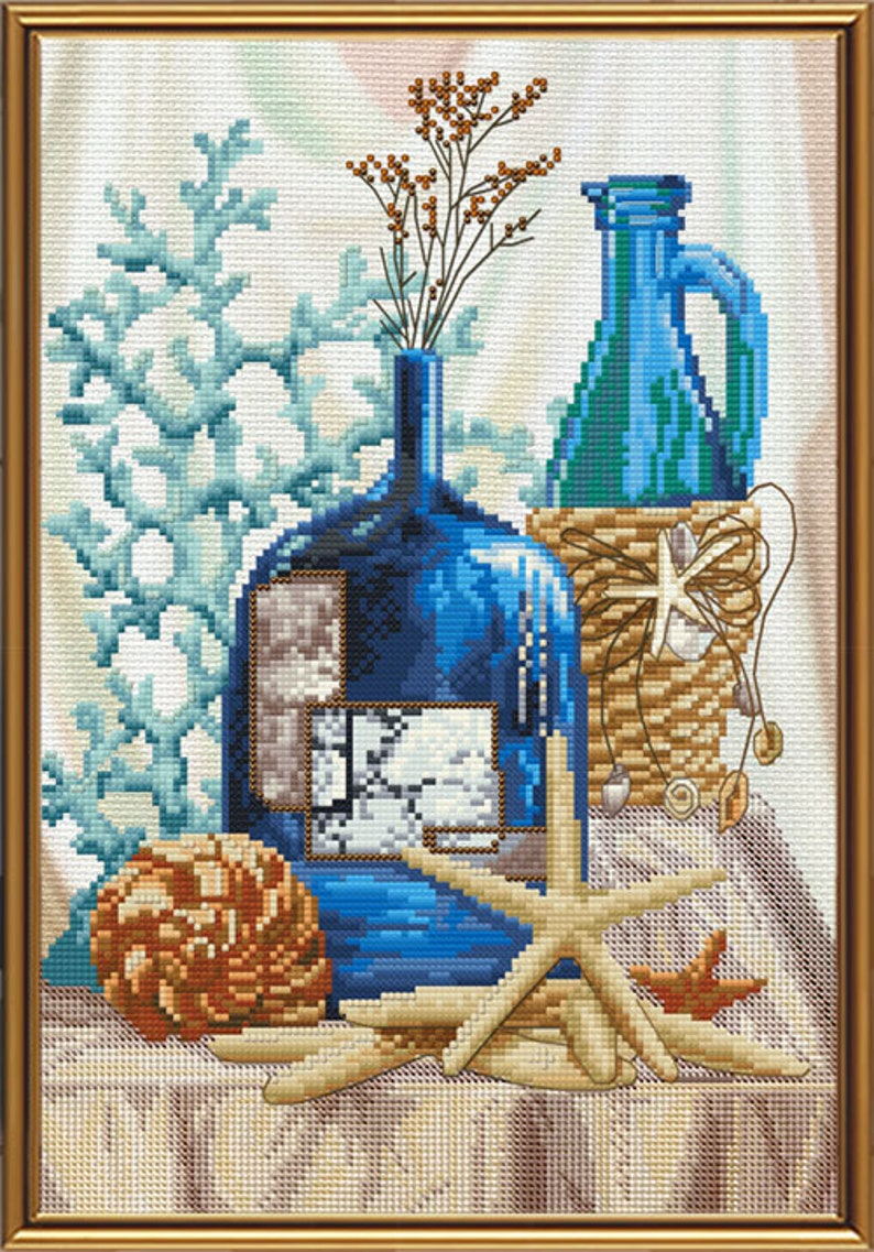 Counted Cross Stitch Kit NOVA SLOBODA Garden still life