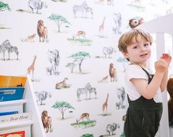 Safari Animals Children's Wallpaper